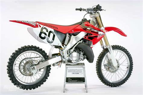 honda cr 125 we test the 2004 honda cr125 motocross bike motocross