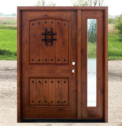 craftsman style doors clear glass  sidelite