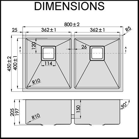 Sink Measurements - stainless steel kitchen sink bowl 1 5mm