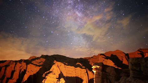 Milky Way Galaxy 84 L Timelapse Mojave Desert Red Rock