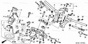 Honda Motorcycle 2005 Oem Parts Diagram For Handlebar