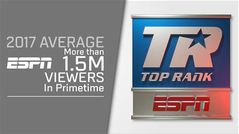 Top Rank on ESPN Hits Unforgettable High Notes in its ...