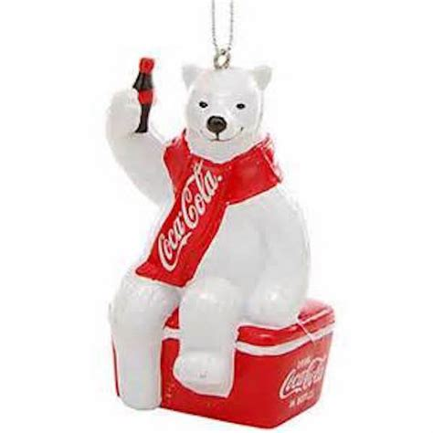 coca cola polar bear  cooler christmas ornament kurt