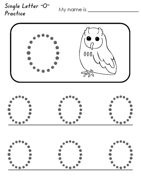 letter o worksheets for loving printable