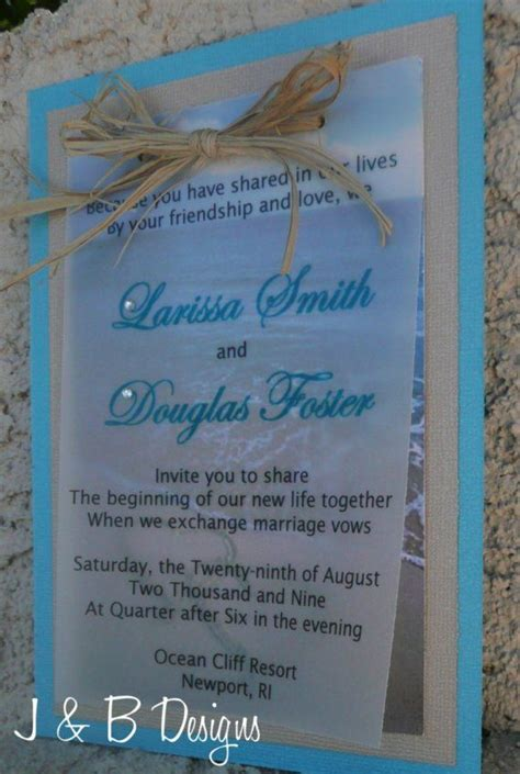 19 best diy beach wedding invitations images on pinterest
