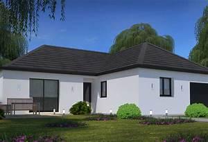 Maison Plain Pied En L : plan maison individuelle 3 chambres 94 habitat concept ~ Melissatoandfro.com Idées de Décoration