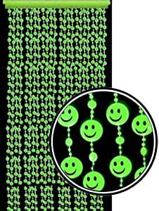 Amazon.com: Beaded Curtains - Glow in the Dark Smiley Face