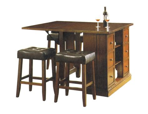 table height kitchen island kitchen island oak finish counter height 3 table set by acme 10234