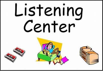 Center Listening Preschool Signs Classroom Labels Clipart