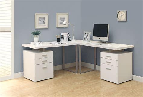 white and wood desk interior contemporary computer desk design inspiration