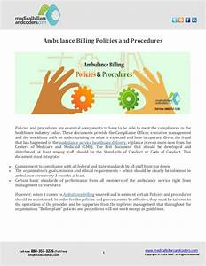 ambulance billing policies and procedures With invoicing policy and procedures