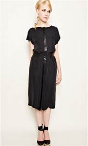silk and leather midi dress mondefilecom With robe longue soie