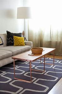 sleek and stylish diy coffee tables decorating your With copper and wood coffee table