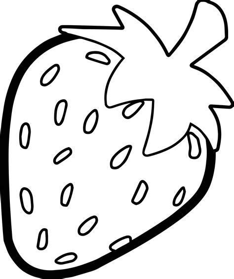 Coloring Strawberry by Strawberry Bold Outline Coloring Page Outline