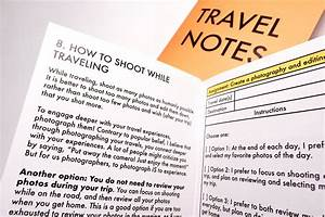Travel Notes  Photography Assignments  U0026 Inspiration Manual
