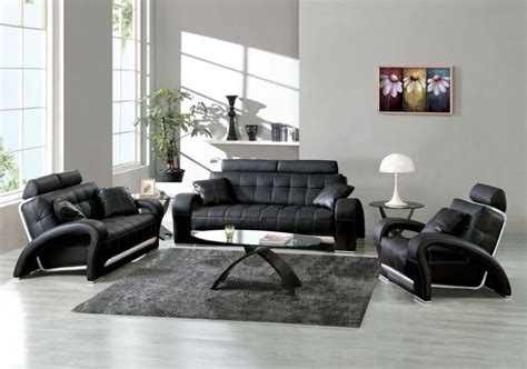 Black Leather Living Room Ideas by Best Living Room Design Ideas With Modern Black Leather