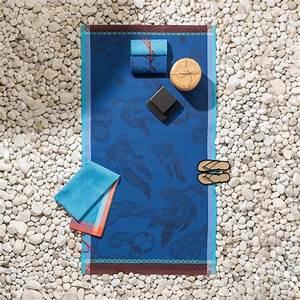 Grande Serviette De Plage : drap de plage nid d 39 abeilles 100x200 oc anique abysse serviettes et draps de plage le bain ~ Teatrodelosmanantiales.com Idées de Décoration