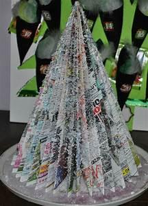 Sapin En Papier Plié : arbre en papier journal l 39 univers cr atif de marie ~ Melissatoandfro.com Idées de Décoration