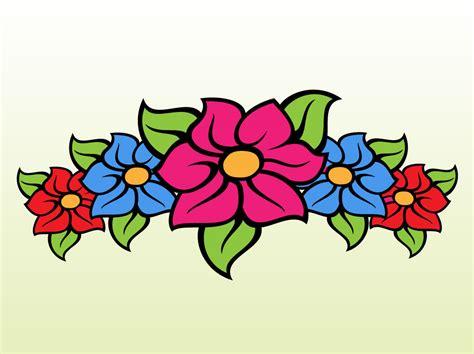Floral Band Cartoon Vector Art & Graphics