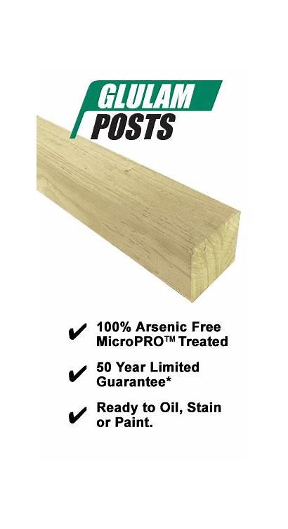 Glulam Posts Engineered Southern Select Timber Grade