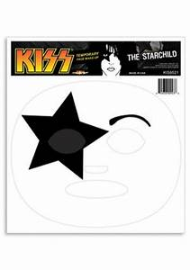 kiss starchild temporary face makeup paul stanley With kiss mask template