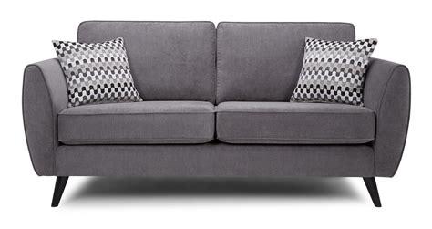 Graphite Leather Sofa aurora 3 seater sofa plaza dfs