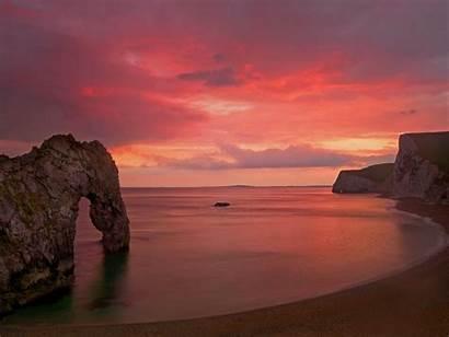 Durdle Dorset Dore Sunset Wallpapers Fondox