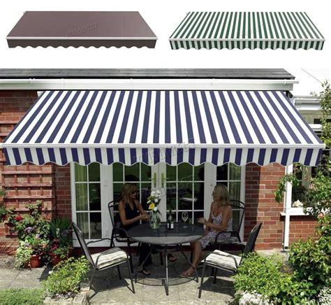 westwood retractable awning manual aluminium canopy patio sun shade shelter patio sun shades