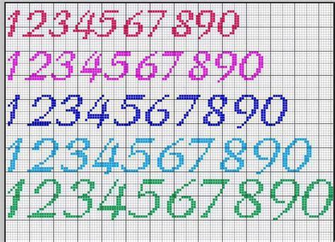 cijfers verschillende formaten kanavice alfabe alfabe yazi tipleri kanavice tasarimlari