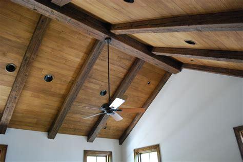 Wood Ceiling Planks by Distressed Rustic Wood Beams Remodeling Design