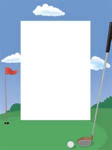 Golf Page Borders Clip Art