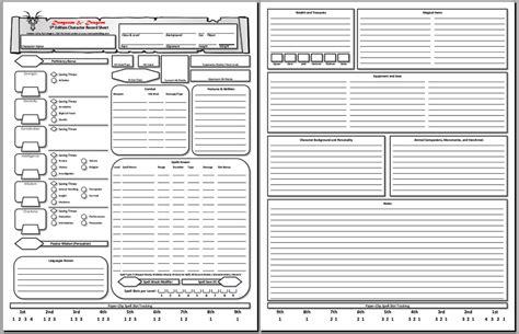 character sheets dnd pinterest character sheet 5e