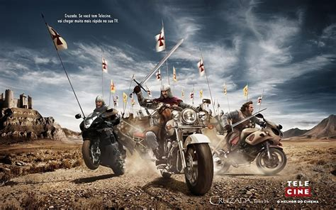 wallpaper motorcycle knight   ancient war