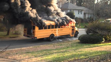 School Bus Fire CMS - YouTube
