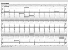 Veckokalender 2018 2018 Calendar printable for Free