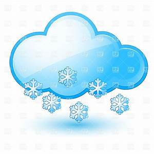 Cloud with snowflake - snow weather icon Royalty Free ...