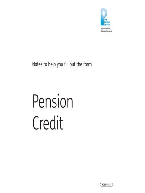 pension credit claim form   templates   word