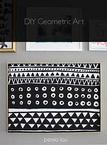 DIY Black and White Geometric Art - Persia Lou