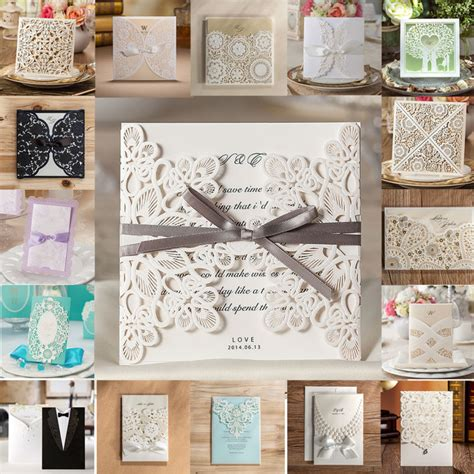 pcsset wishmade wedding invitations samples hollow lace