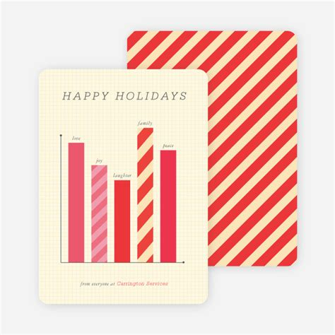 You can customize company holiday cards with images and text on the card cover and interior. Business Holiday Cards & Corporate Holiday Cards   Paper Culture