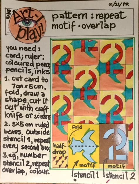 And the easiest way to do this is with musical themes. ARTi-Play #5 - Pattern: Repeat, motif, overlap - Stirling Events