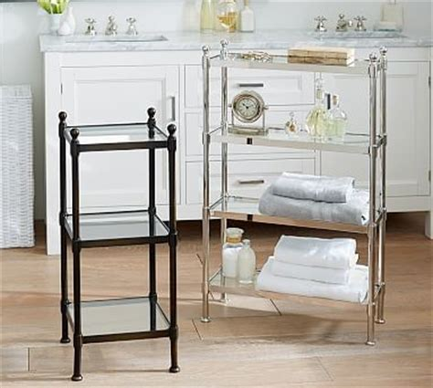 Metal Etagere Bathroom by Metal Etagere Small Polished Nickel Finish Traditional