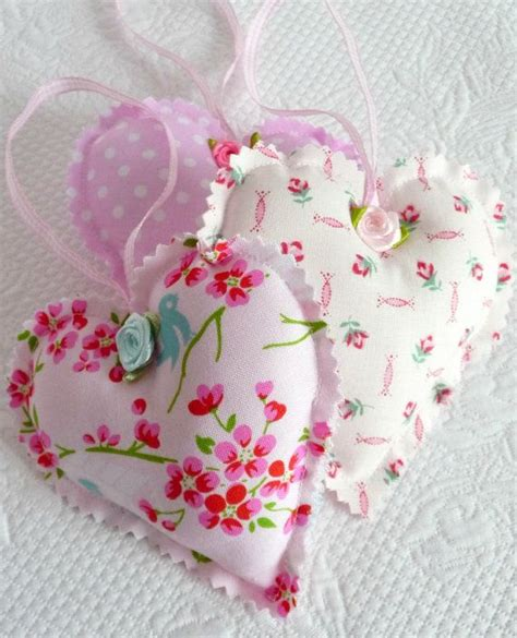 shabby chic fabric hanging hearts the 25 best hanging hearts ideas on pinterest heart wall decor danish christmas and jul