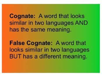 cognate  false cognate game  ss designs teachers