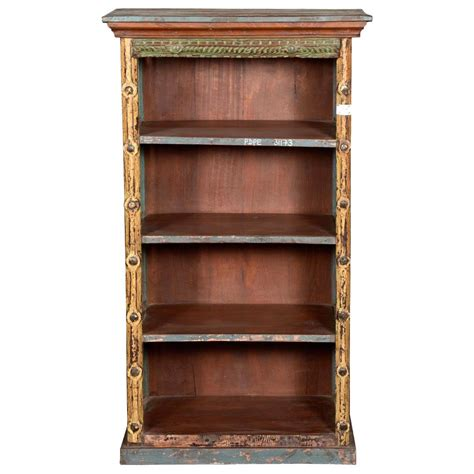 Wood Bookcase by Rustic Open Slats Reclaimed Wood Golden Post Open Bookcase