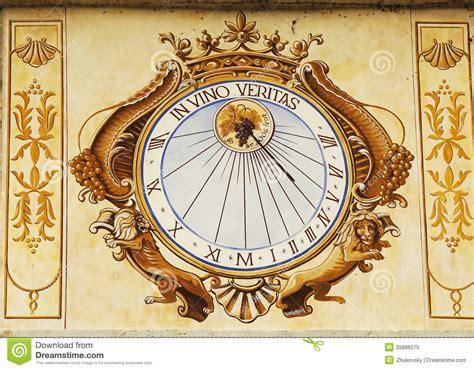 In Vino Veritas Sundial Clock In Chateau De Pommard In