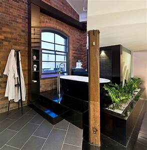 10 fabulous bathrooms with industrial style With salle de bain style loft