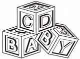 Coloring Cube Blocks Popular sketch template