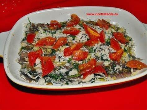 Come Cucinare Le Alici Al Forno by Alici Al Forno Ricetta