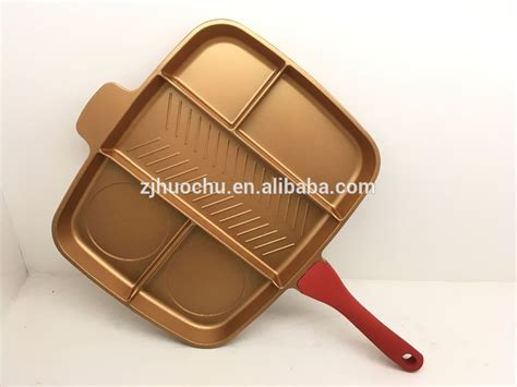 copper die cast aluminum  stick parini cookware  section divided frying pan buy